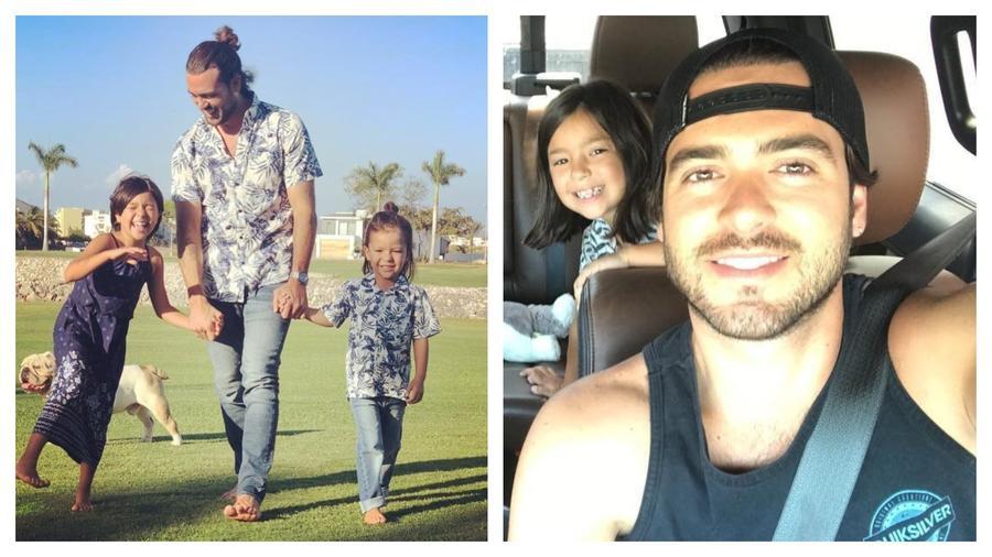 Pablo Lyle con sus hijos