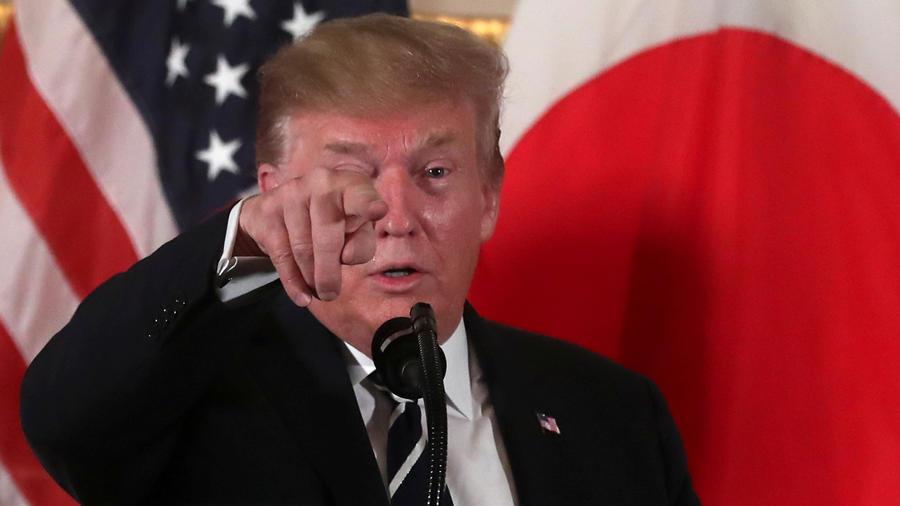 El presidente de EEUU, Donald Trump, hoy en Japón en conferencia