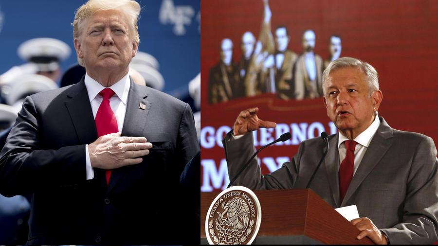 Trump, ayer (izquierda), y López Obrador, hoy.