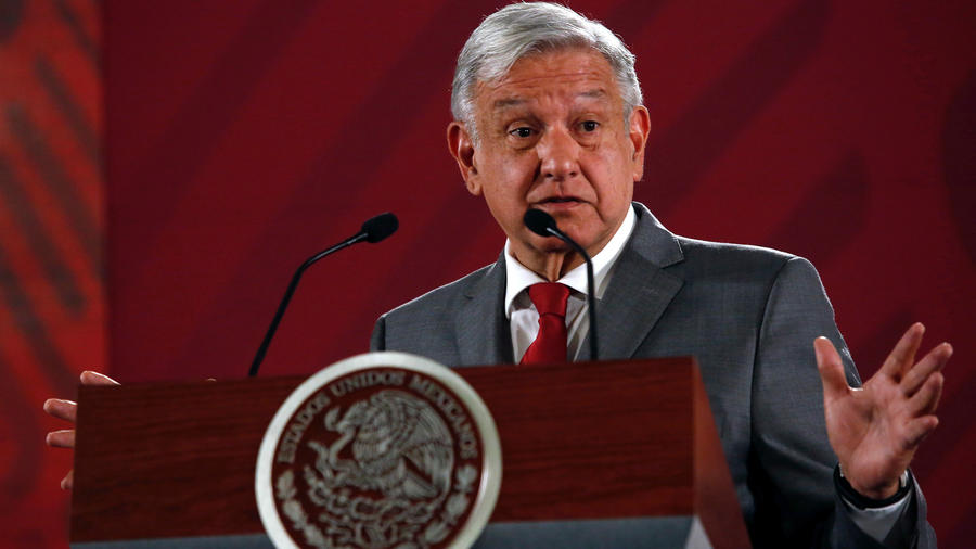 El presidente de México, Andrés Manuel López Obrador, ayer en su rueda de prensa matinal