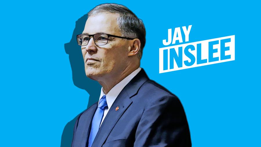 El precandidato demócrata Jay Inslee.