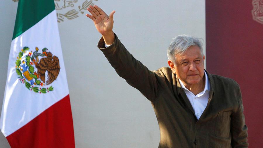 El presidente de México, Andrés Manuel López Obrador, ayer en Tijuana