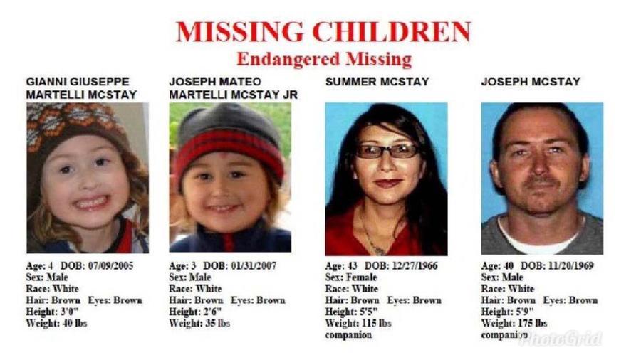 La familia McStay desaparecida en San Diego en 2010