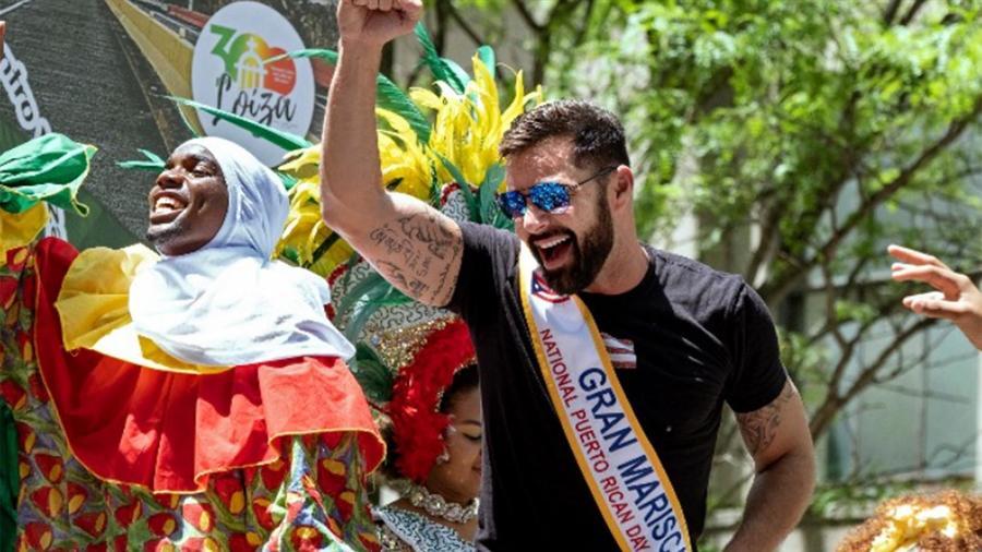 Ricky Martin en el Desfile Nacional Puerto Rico en NY 2019