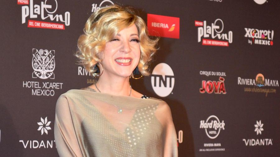 Edith González en la alfombra roja de los V Premios Platino a lo mejor del Cine Iberoamericano, México, 2018