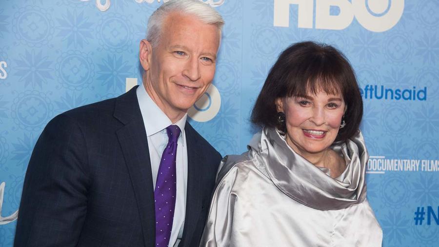 Gloria Vanderbilt y su hijo el presentador Anderson Cooper