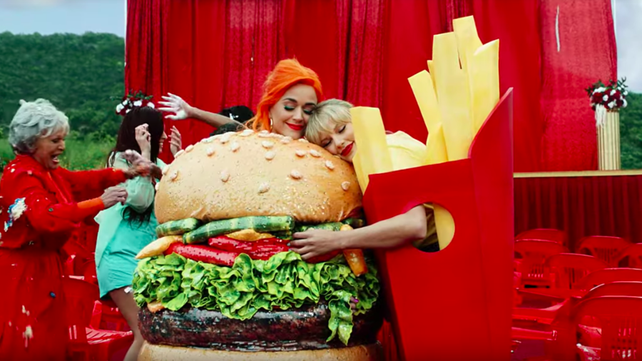 Katy Perry and Taylor Swift in music video