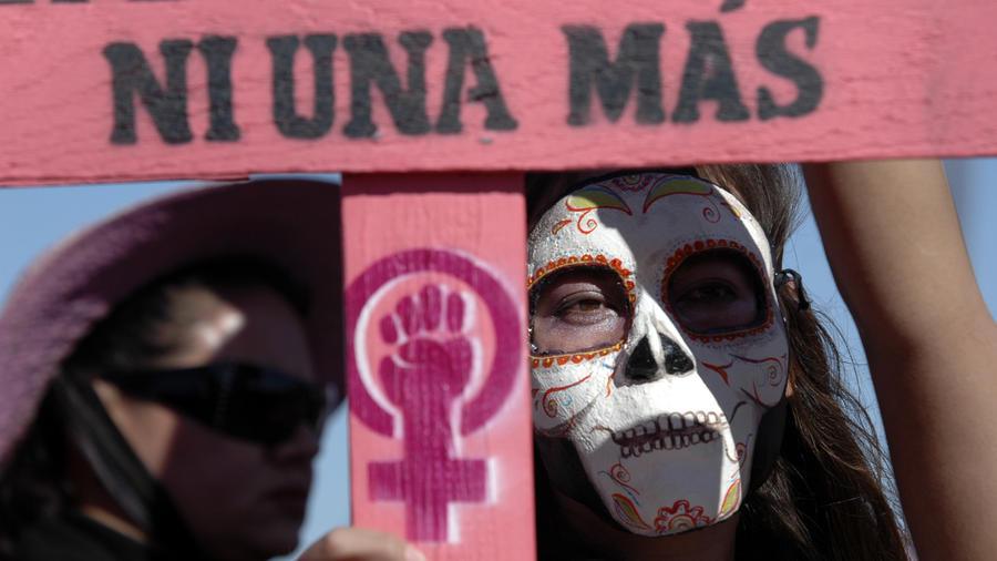Imagen de archivo de una protesta contra el asesinato de mujeres en Ciudad Juarez en 2009.