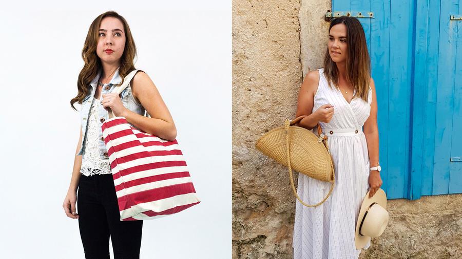 Mujeres con bolsos
