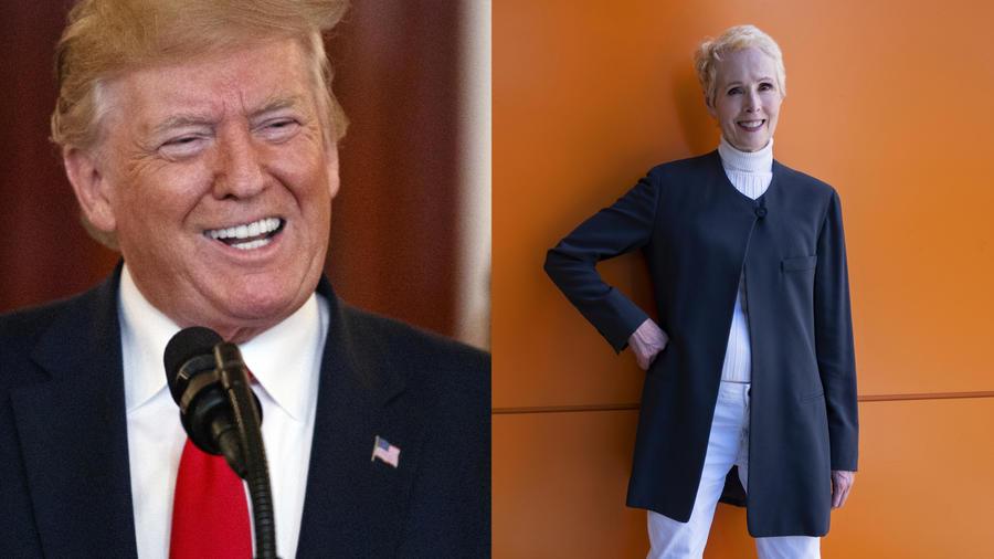 Imágenes de archivo de Trump (izquierda) y Carroll (derecha).