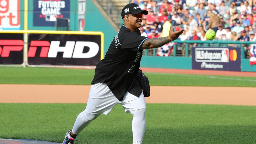 Daddy Yankee at the MLB Celebrity Softball Game
