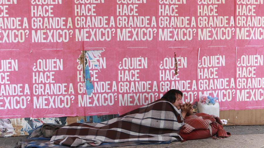 Un indigente en la Ciudad de México en agosto de 2018.
