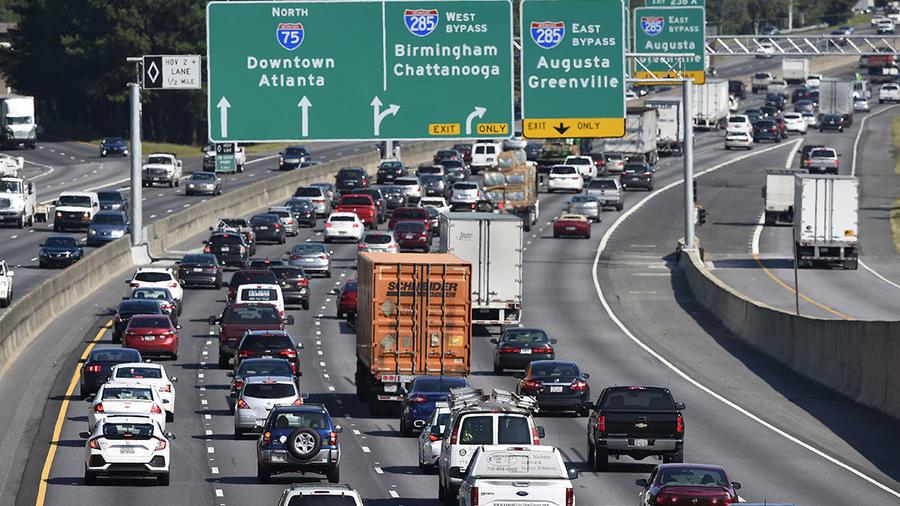Imagen de la carretera I-75 en el sur de Atlanta, en Georgia.