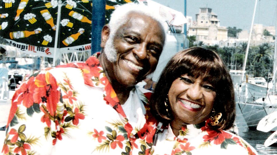 Celia Cruz y Pedro Knight