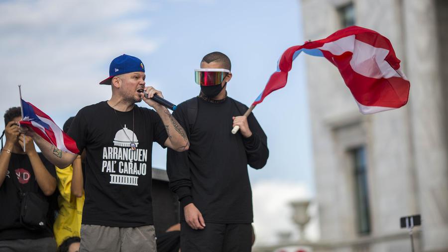 Protestas en Puerto Rico contra Ricardo Roselló