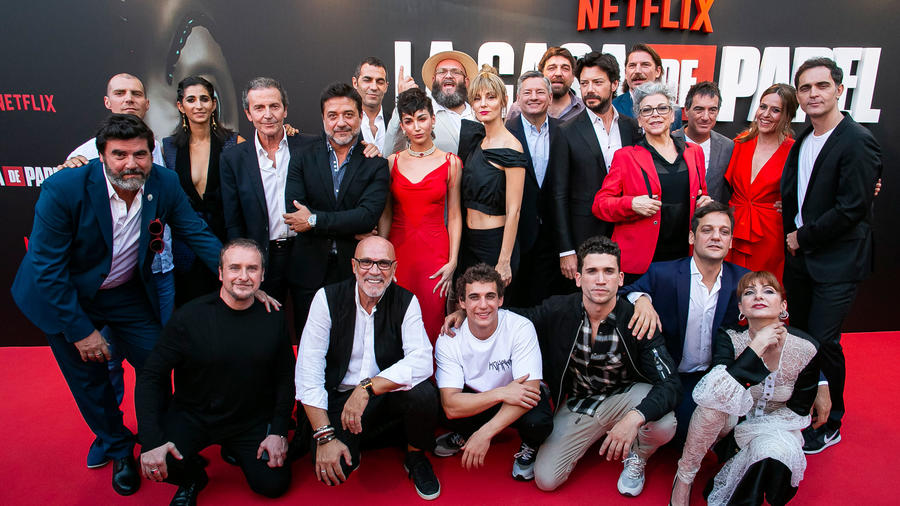 "Elenco de ""La casa de papel"" en la red carpet en Madrid, 2019"