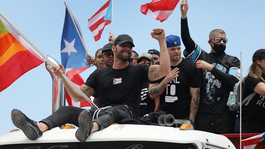 Ricky Martin in Puerto Rico protest