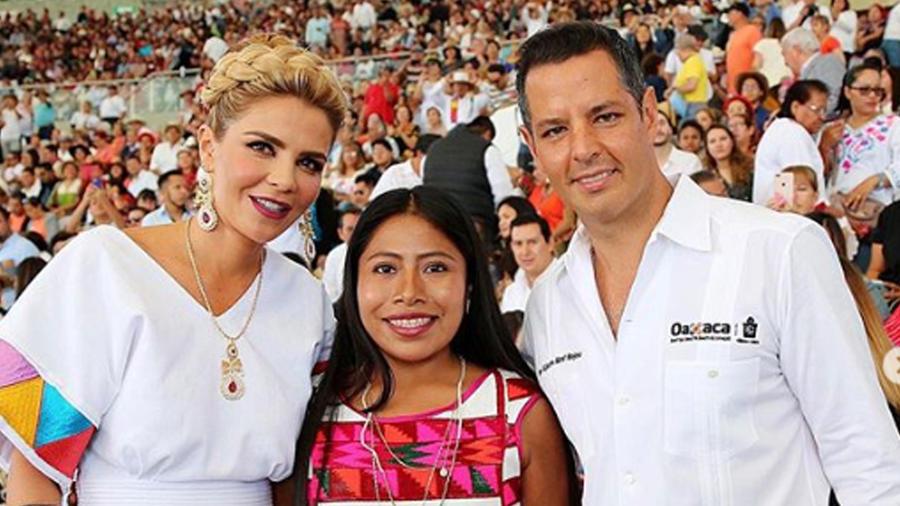 Yalitza Aparicio estuvo en el inicio de la Guelaguetza
