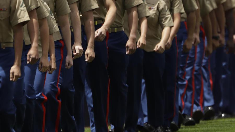 Imagen de archivo de marines de la base californiana de Pendleton.