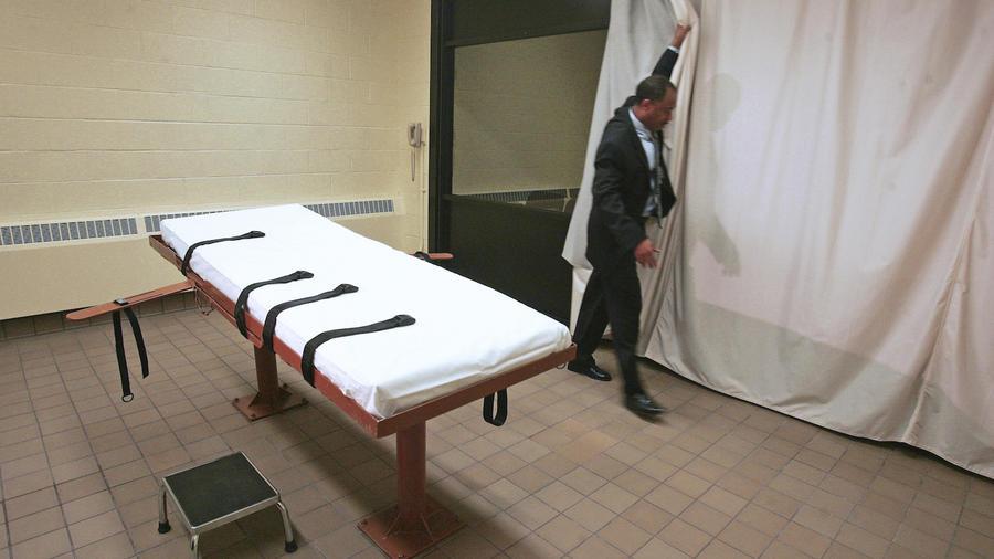 Imagen de archivo de la cámara de ejecuciones en una prisión de Ohio.
