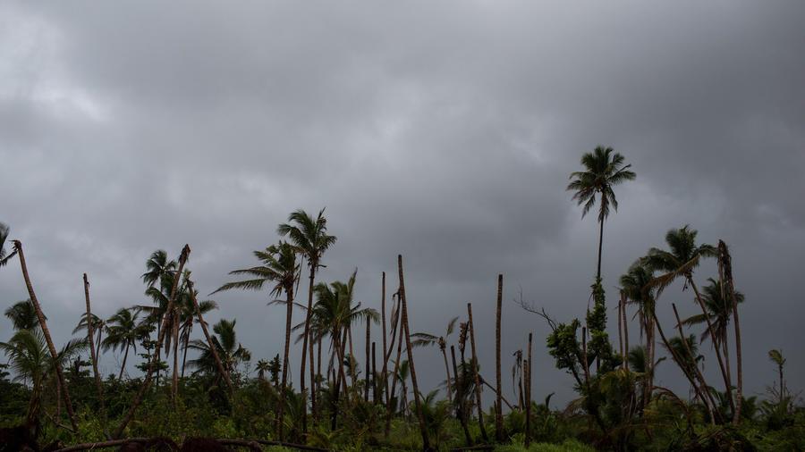 Temporal en el Cariben en una imagen de archivo