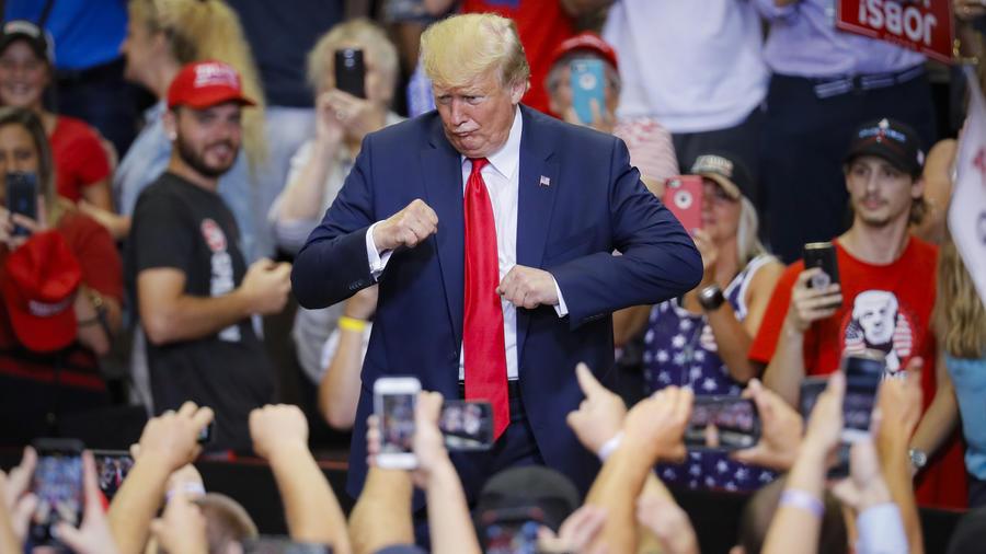 Trump, durante un acto político el 1 de agosto en Cincinnati.