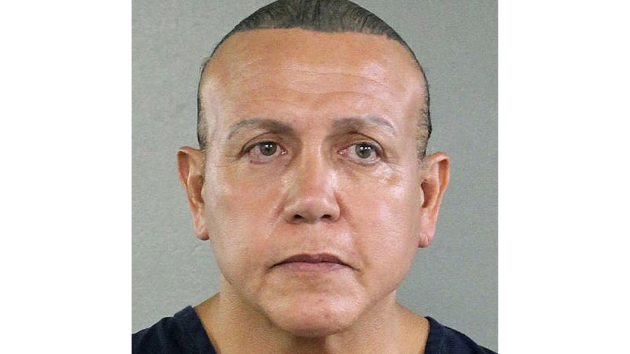 Fotografía de César Sayoc, acusado de enviar paquetes bomba a prominentes demócratas y a la cadena de televisión CNN a mediados del 2018.