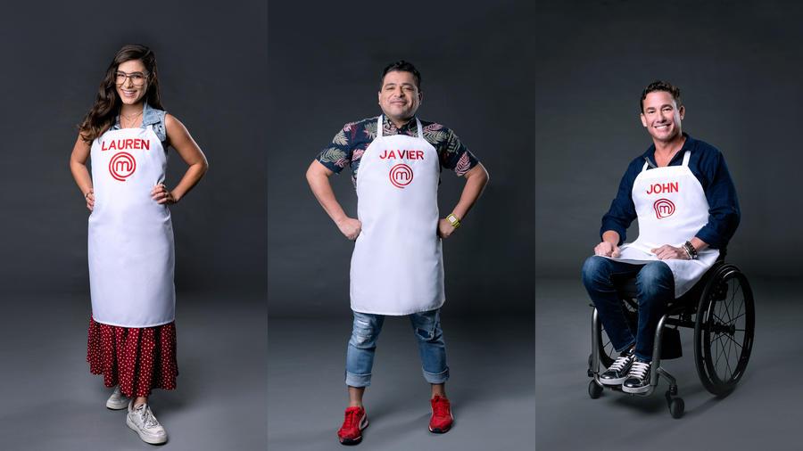 Los tres finalistas de MasterChef Latino 2