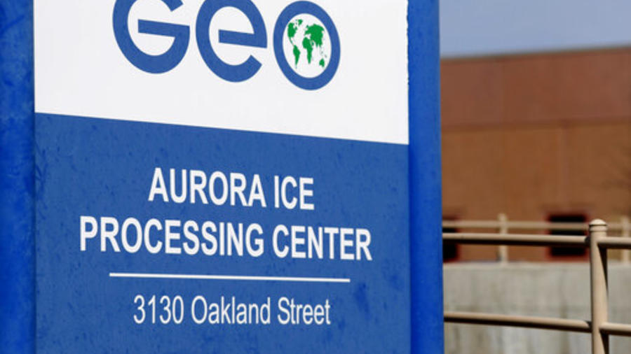 Geo Group immigrant detainment facility in aurora,colo