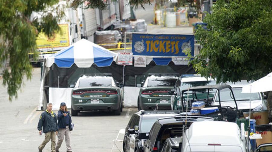 Agentes del FBI en los alrededores del sitio donde se celebró el Festival del Ajo de Gilroy, en California, escenario de un tiroteo masivo el pasado 28 de julio por el que murieron tres personas.