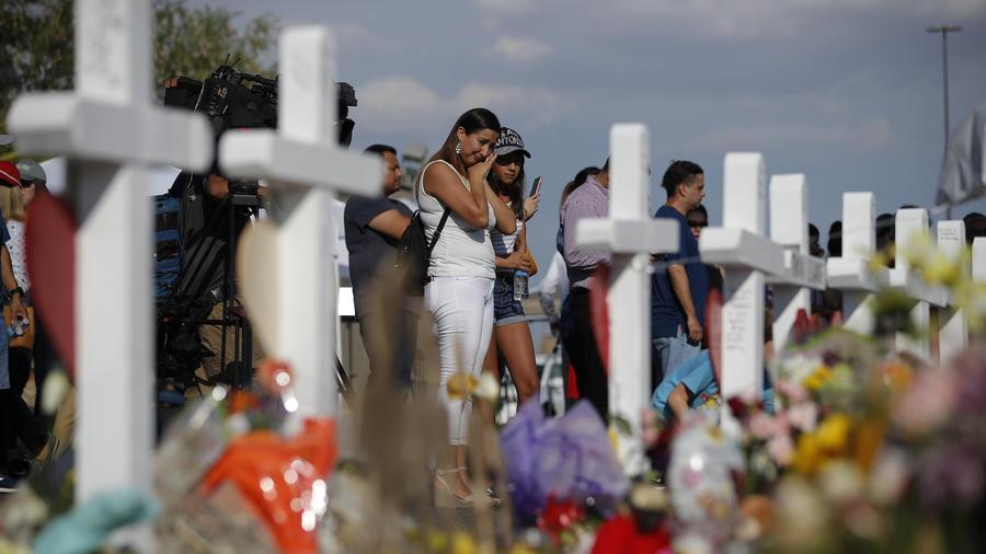 Imagen de archivo de las ofrendas en memoria de las víctimas de El Paso, Texas.
