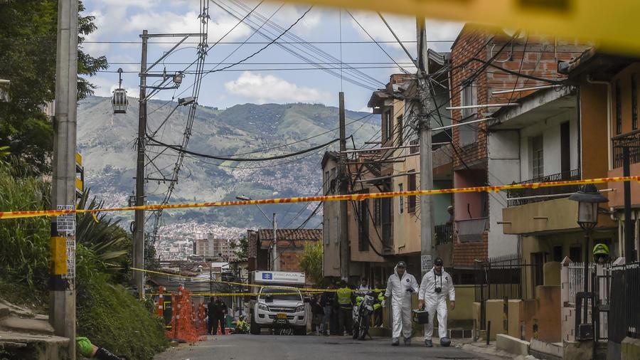 Escena del crimen en Colombia