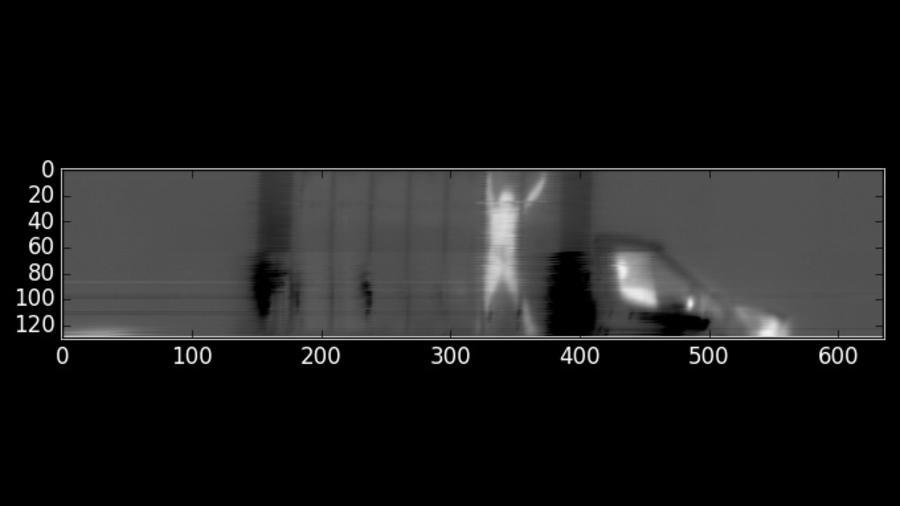 Escáner para detectar a personas escondidas en camiones.