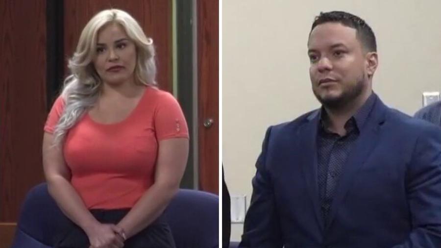 Claudia Galván y Lorenzo Méndez en la corte