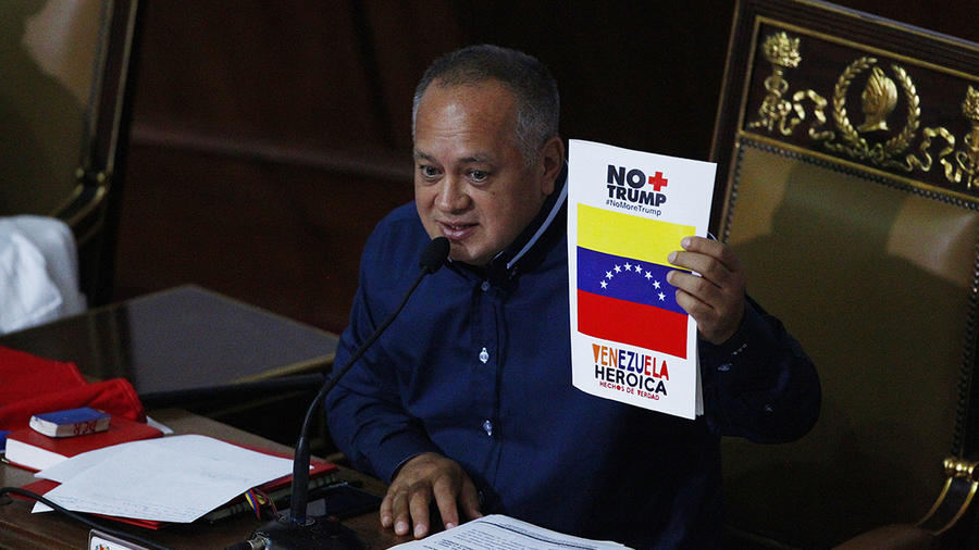 El presidente de la Asamblea Nacional Constituyente de Venezuela Diosdado Cabello.