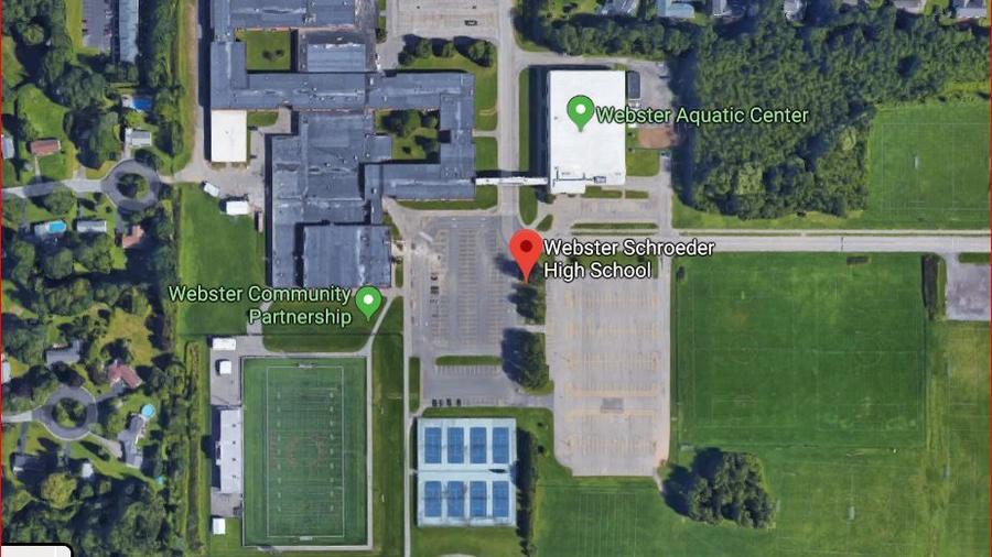Vista aérea de la escuela secundaria Webster Schroeder, Nueva York/Google Maps