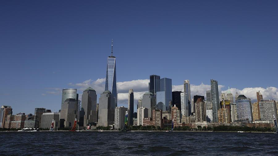 Vista de los rascacielos de Manhattan, en Nueva York.