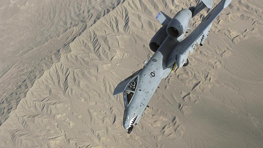 Imagen de archivo de un avión A-10 Thunderbolt II de la Fuerza Aérea.