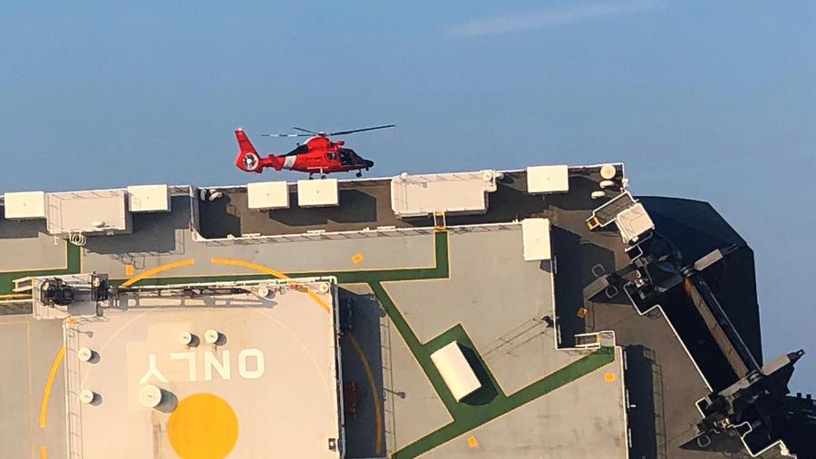 Imagen de la Guardia Costera de Estados Unidos del buque de carga Golden Ray.
