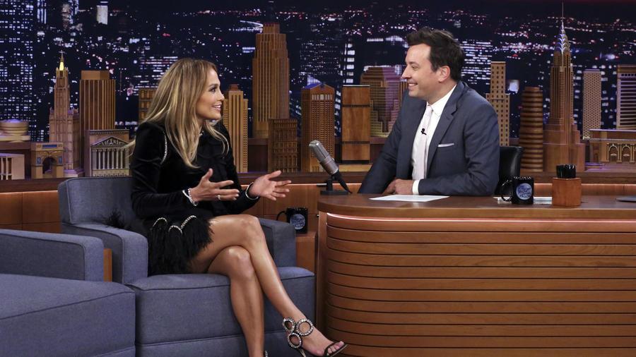 Jennifer Lopez y Jimmy Fallon