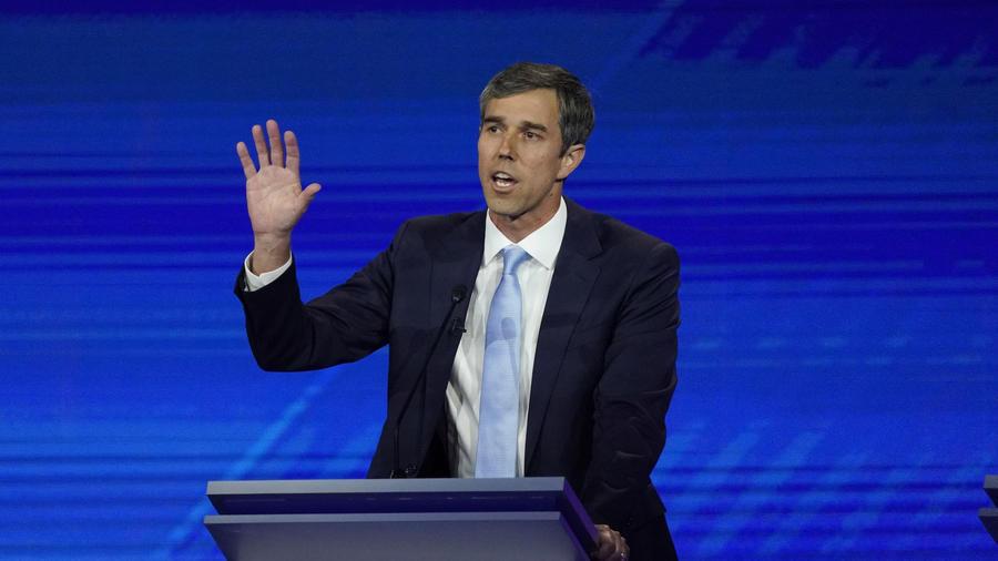 Imagen del candidato presidencial del Partido Demócrata Beto O'Rourke durante el debate del 12 de septiembre de 2019.