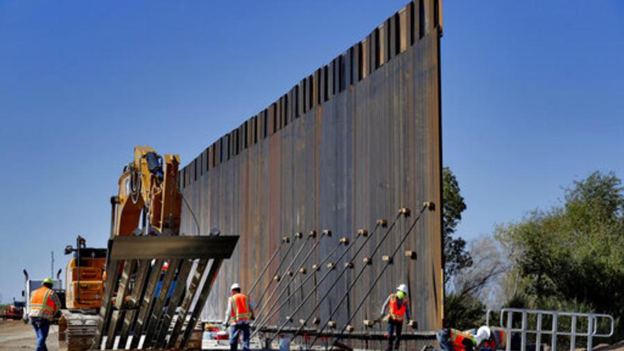 Obras de construcción del muro fronterizo en Yuma, Arizona, en una imagen del pasado 10 de septiembre.