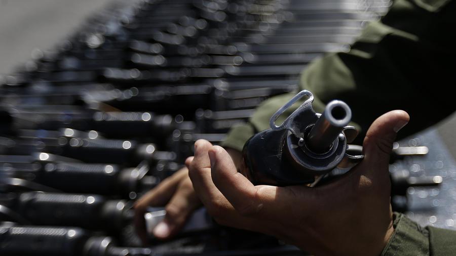 Imagen de archivo de armas confiscadas por las autoridades mexicanas.