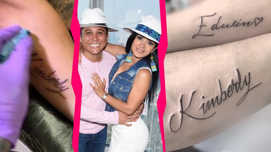 Edwin Luna se tatuó el nombre de Kimberly Flores