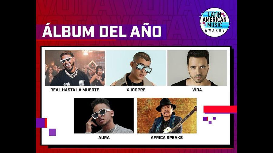 Latin American Music Awards 2019: Nominados Álbum del Año