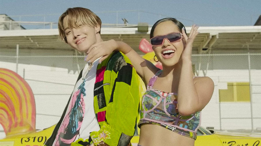 Becky G and J-Hope music video