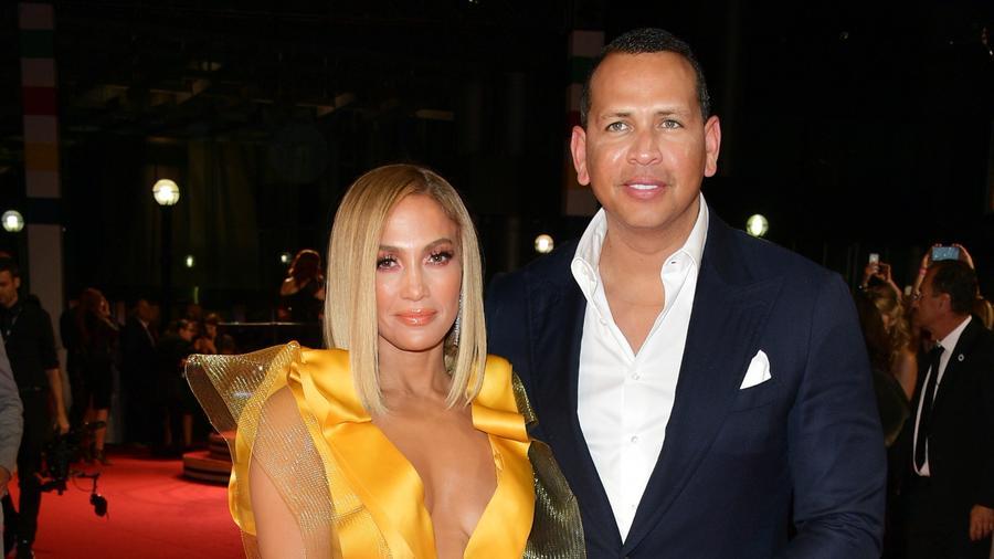 Jennifer Lopez and Alex Rodriguez at event