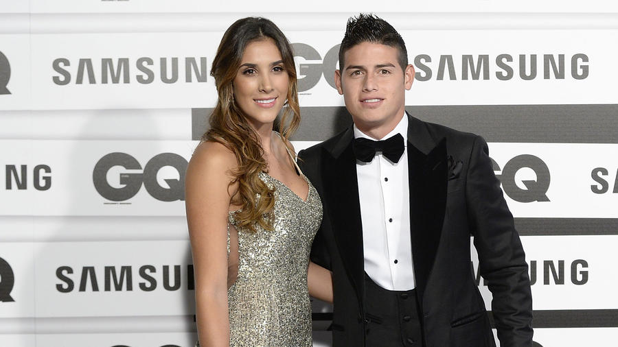 Daniela Ospina y James Rodriguez en los premios GQ Men of the Year Awards, 2015 en Madrid, España.