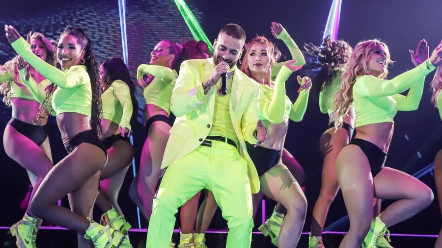 Maluma en su concierto de Miami