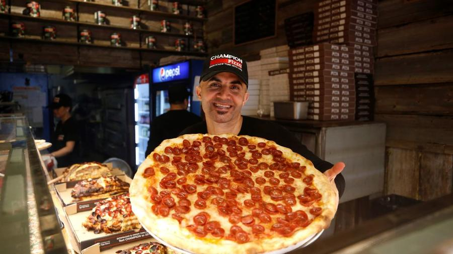 Turkish pizza restaurant-chain owner supports victims of Hurricane Florence